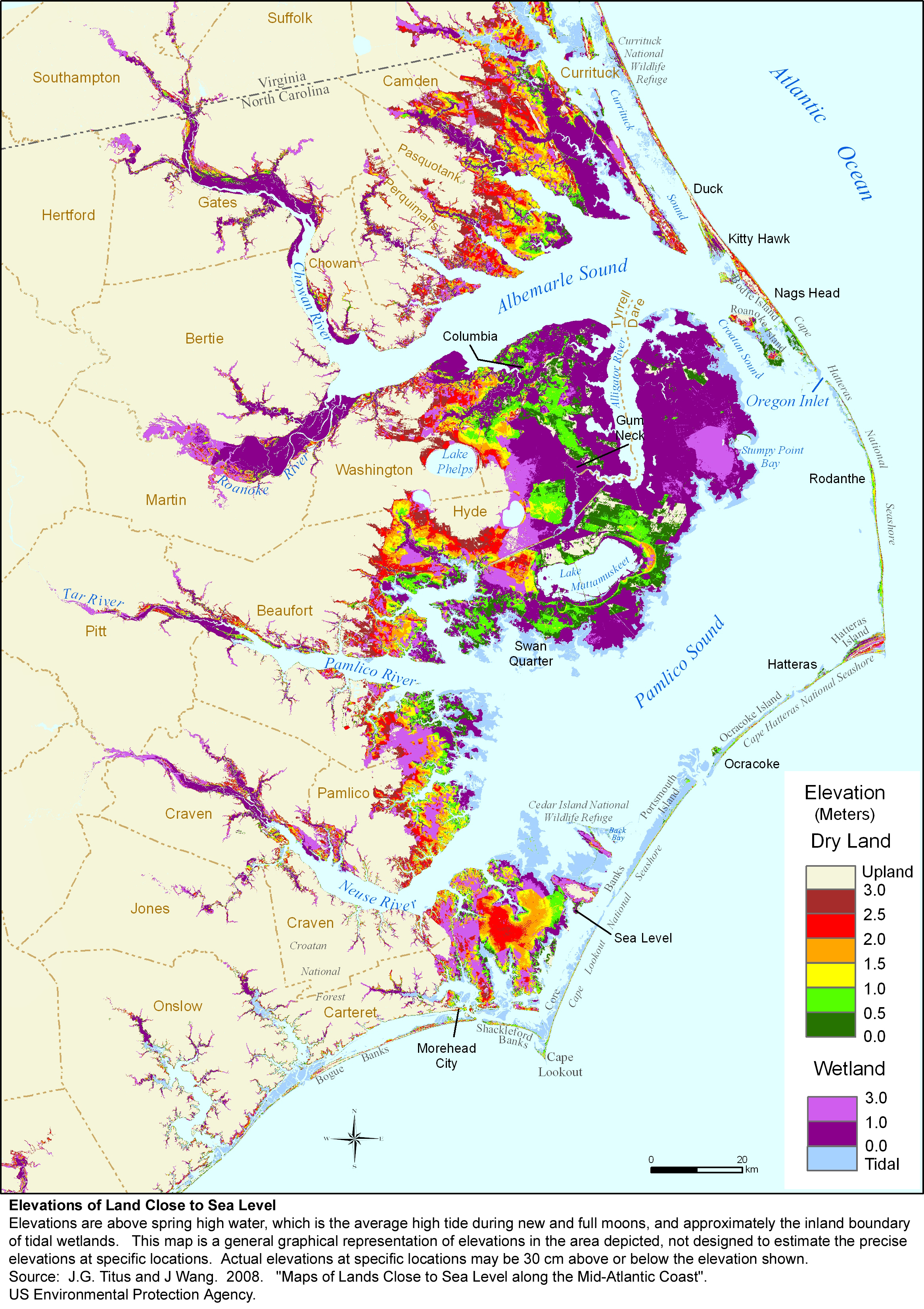 More Sea Level Rise Maps of North Carolina