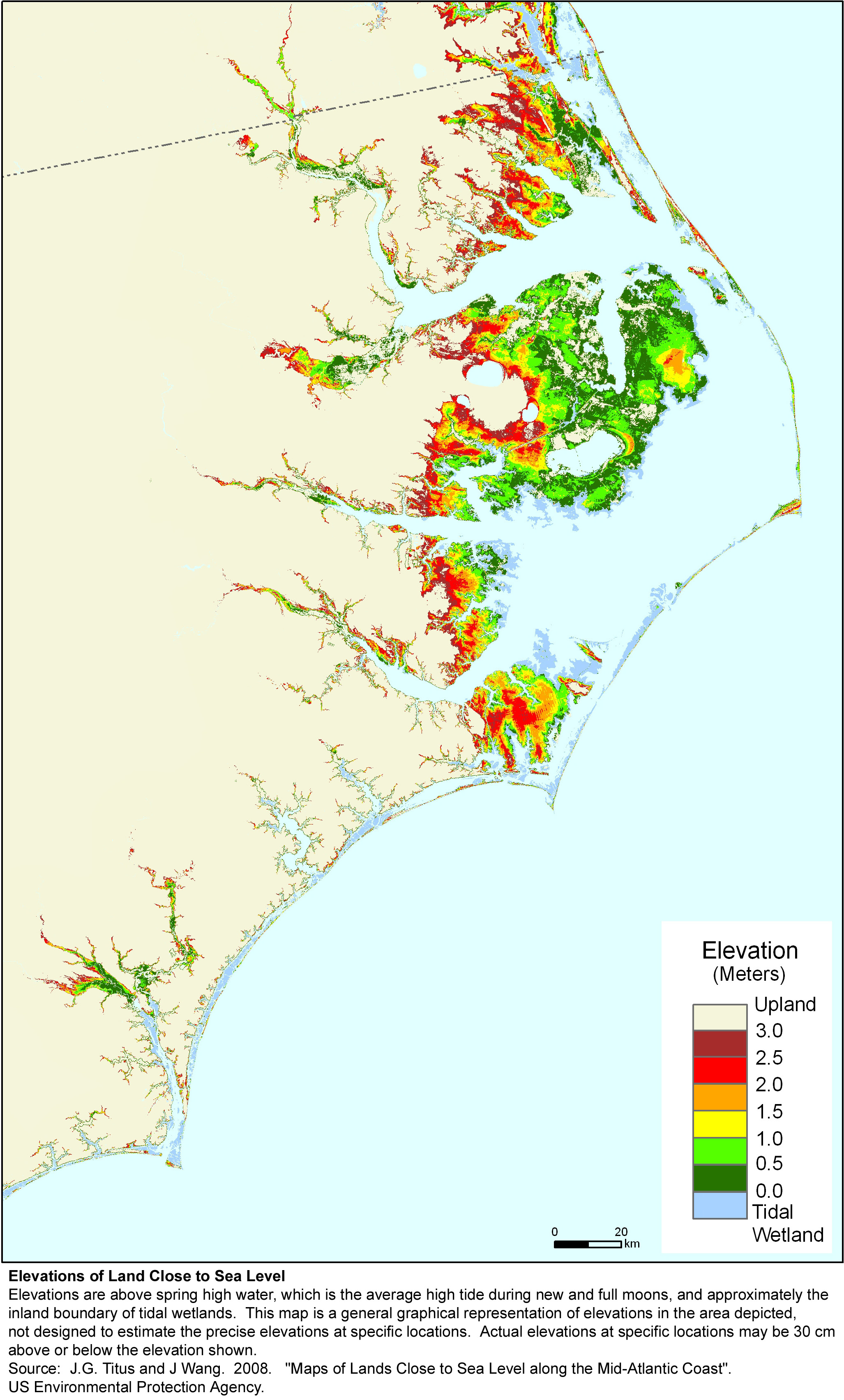 Sea Level Rise Planning Maps Likelihood Of Shore Protection In - Map of north carolina coast