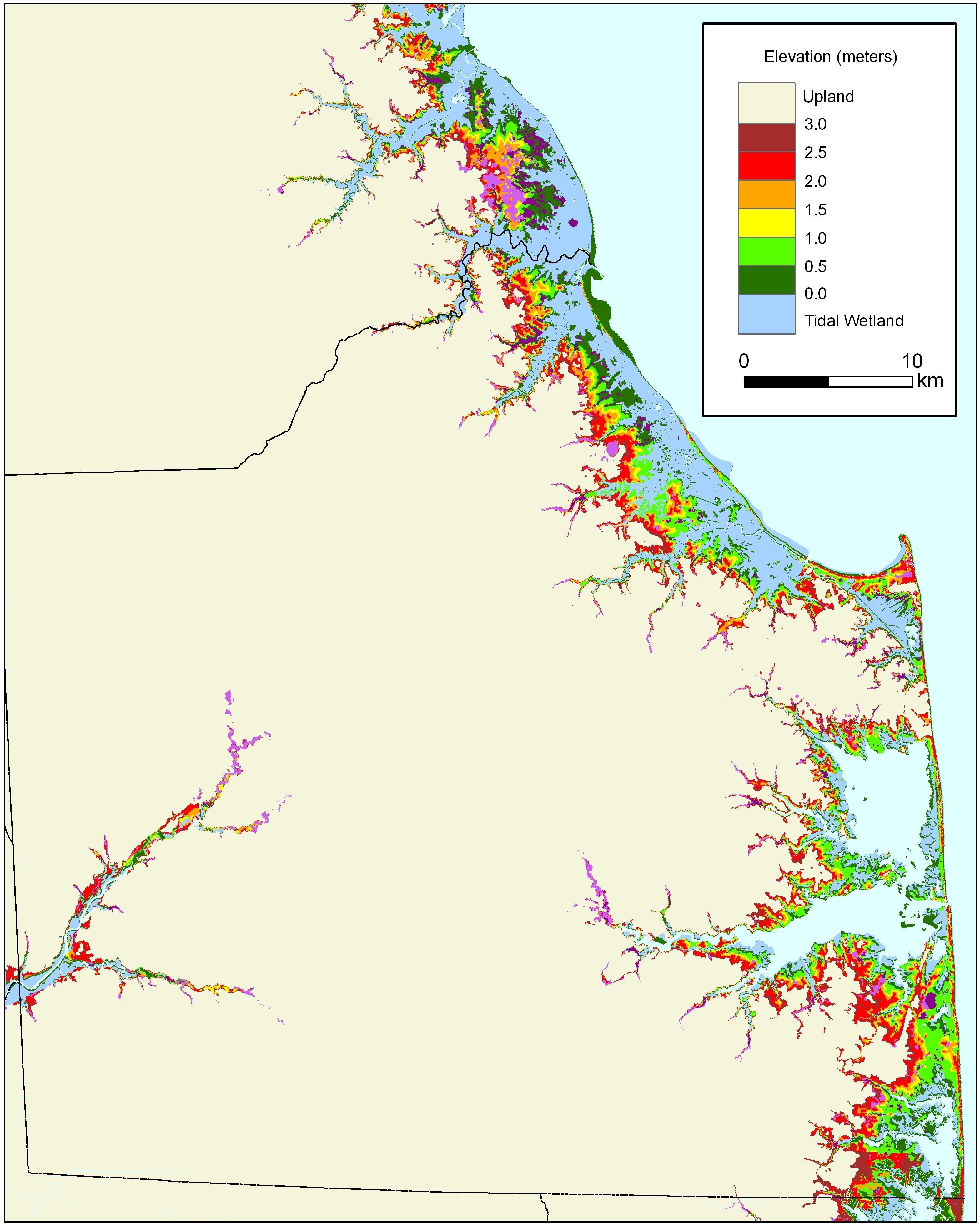 More Sea Level Rise Maps For Delaware