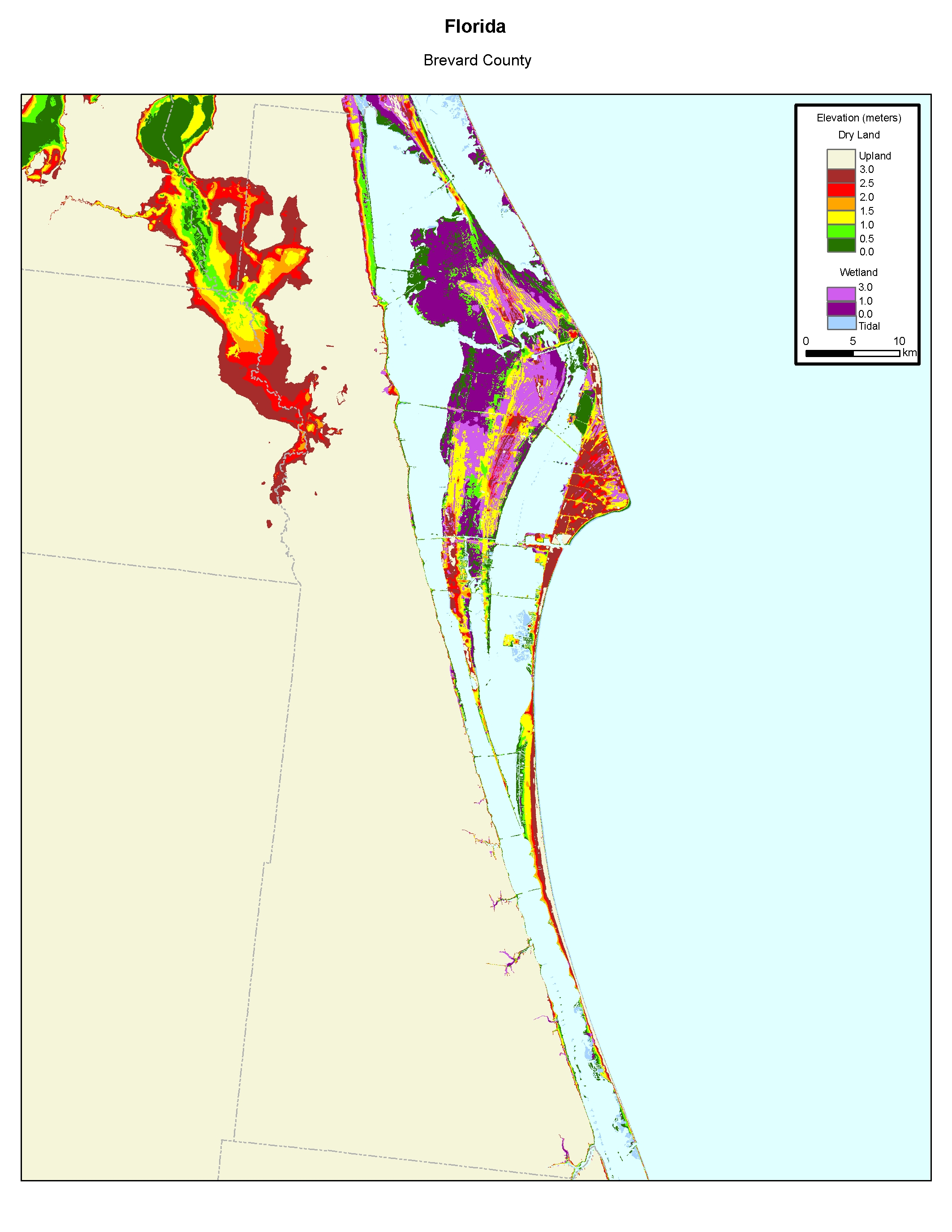 Florida Atlantic Coast Map.More Sea Level Rise Maps Of Florida S Atlantic Coast