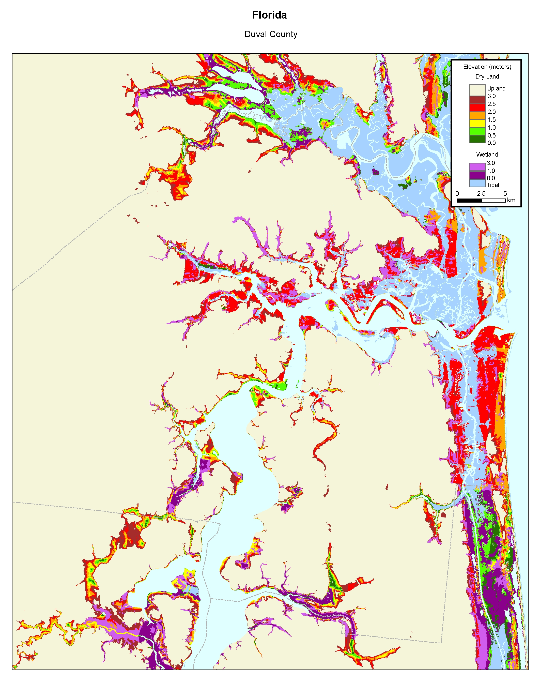 More Sea Level Rise Maps of Florida's Atlantic Coast