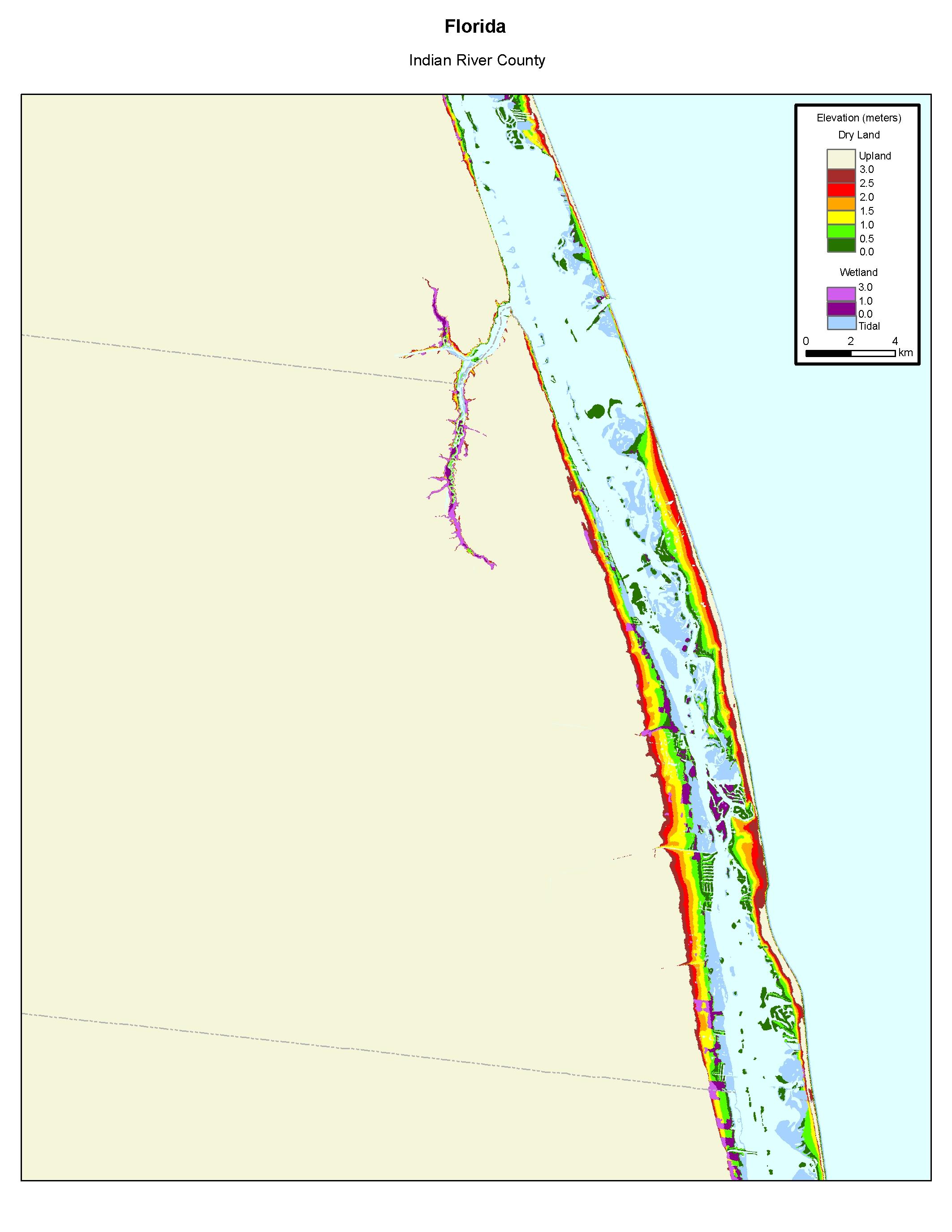 Map Of Florida Atlantic Coast.More Sea Level Rise Maps Of Florida S Atlantic Coast