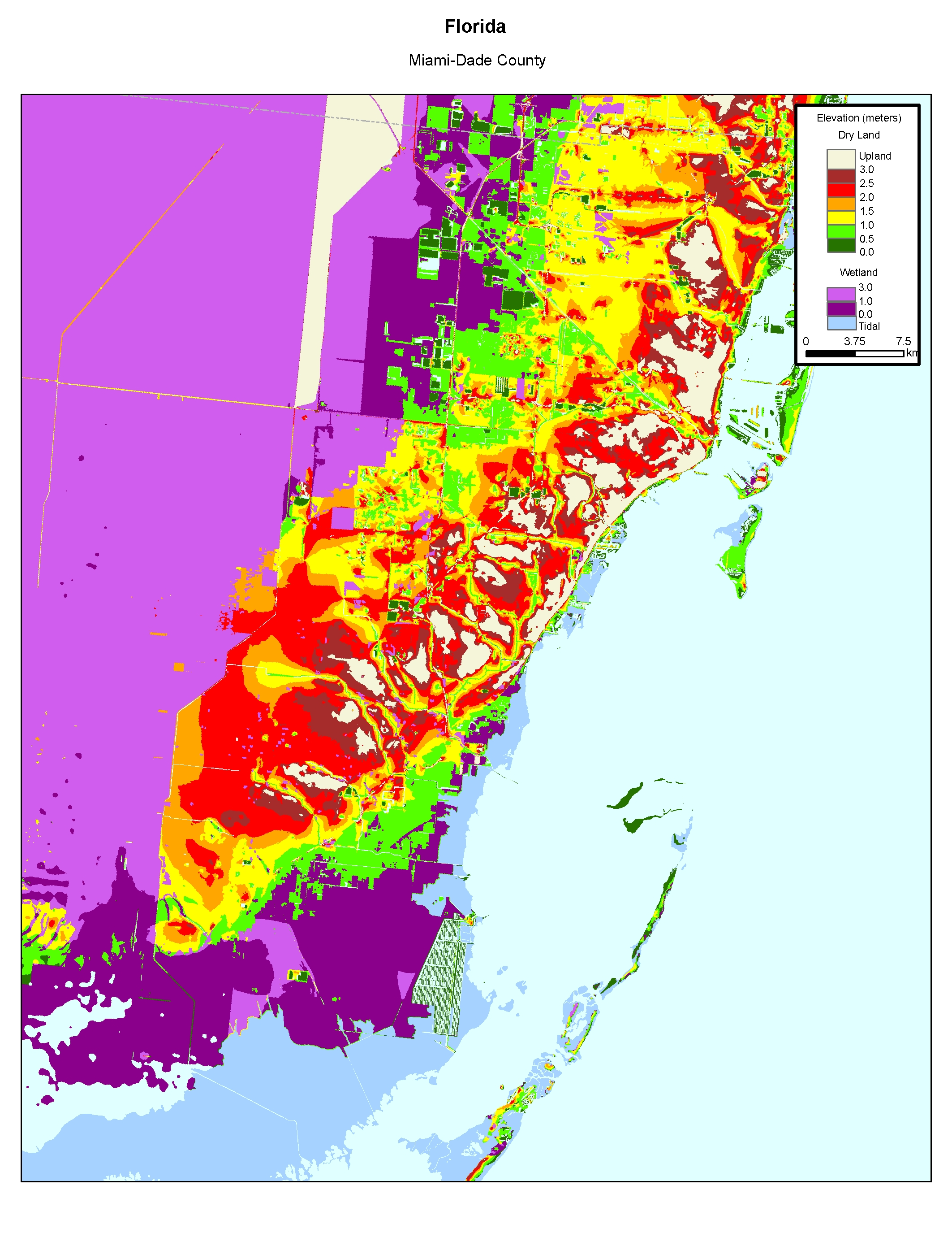 More Sea Level Rise Maps Of Floridas Atlantic Coast - Ground elevation map