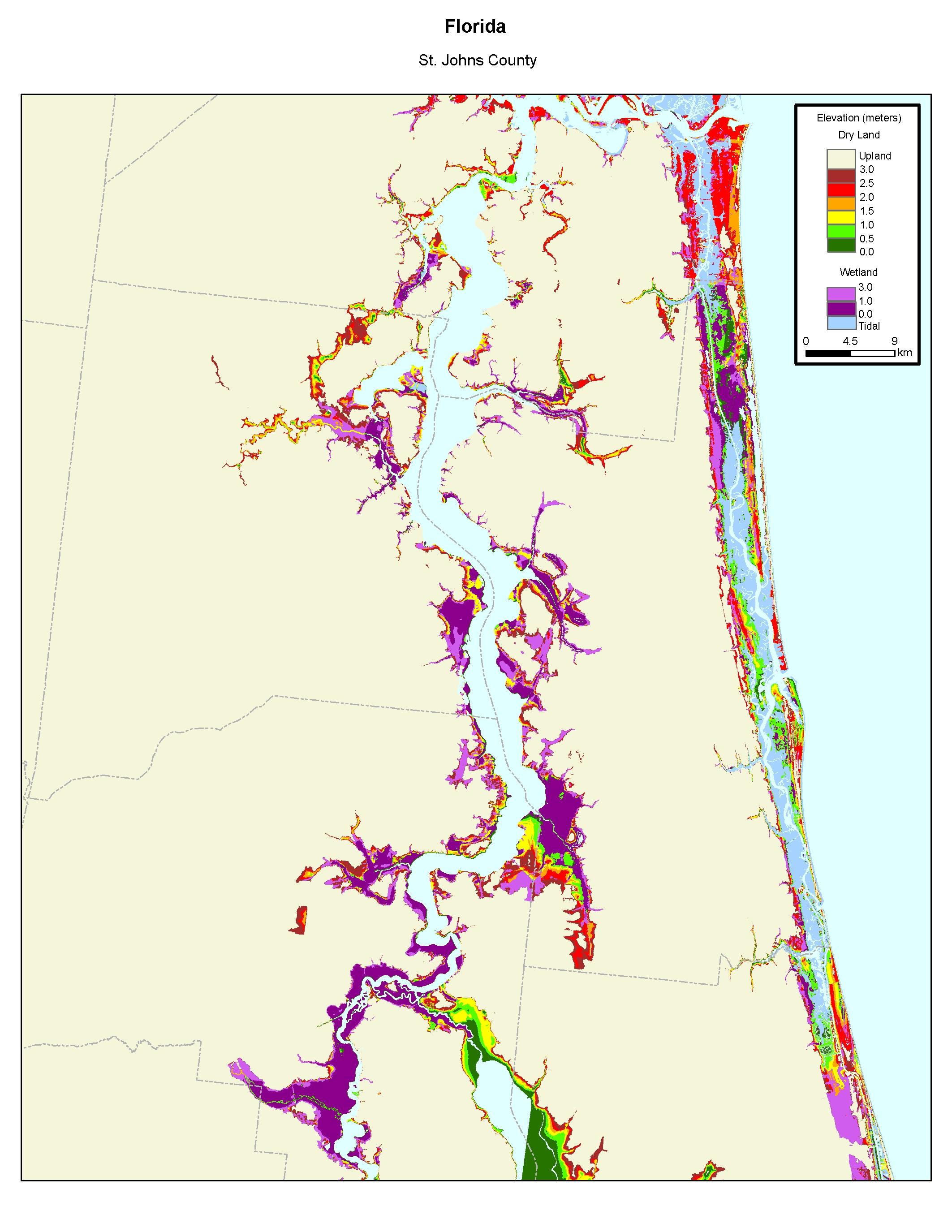 More Sea Level Rise Maps Of Floridas Atlantic Coast - Florida map rising sea levels