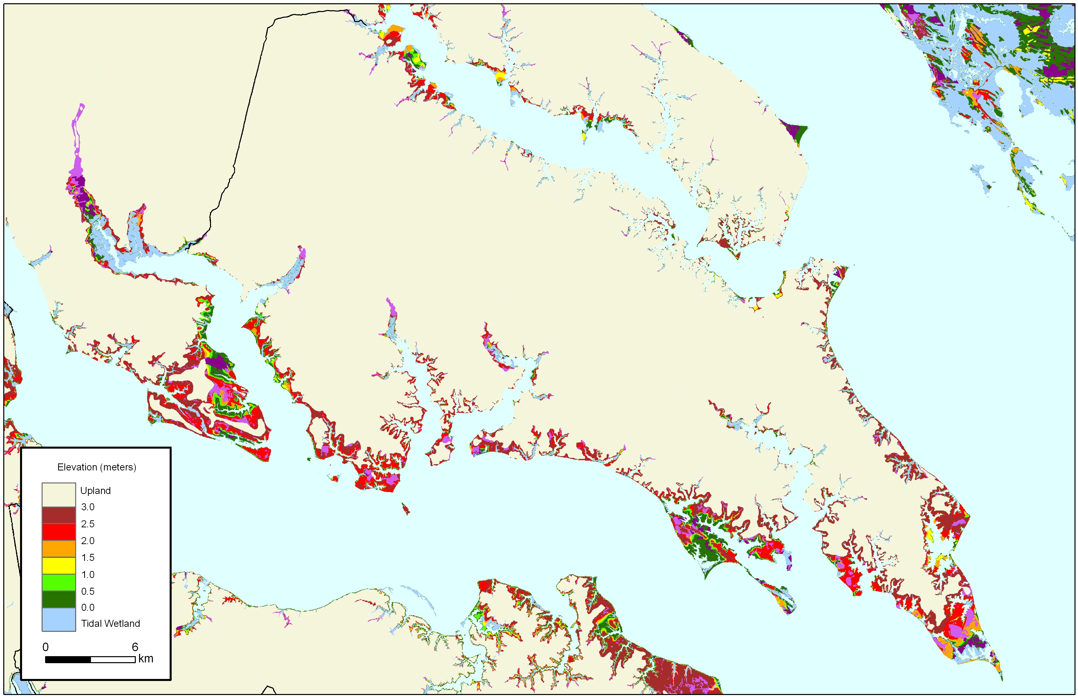 More Sea Level Rise Maps For Maryland