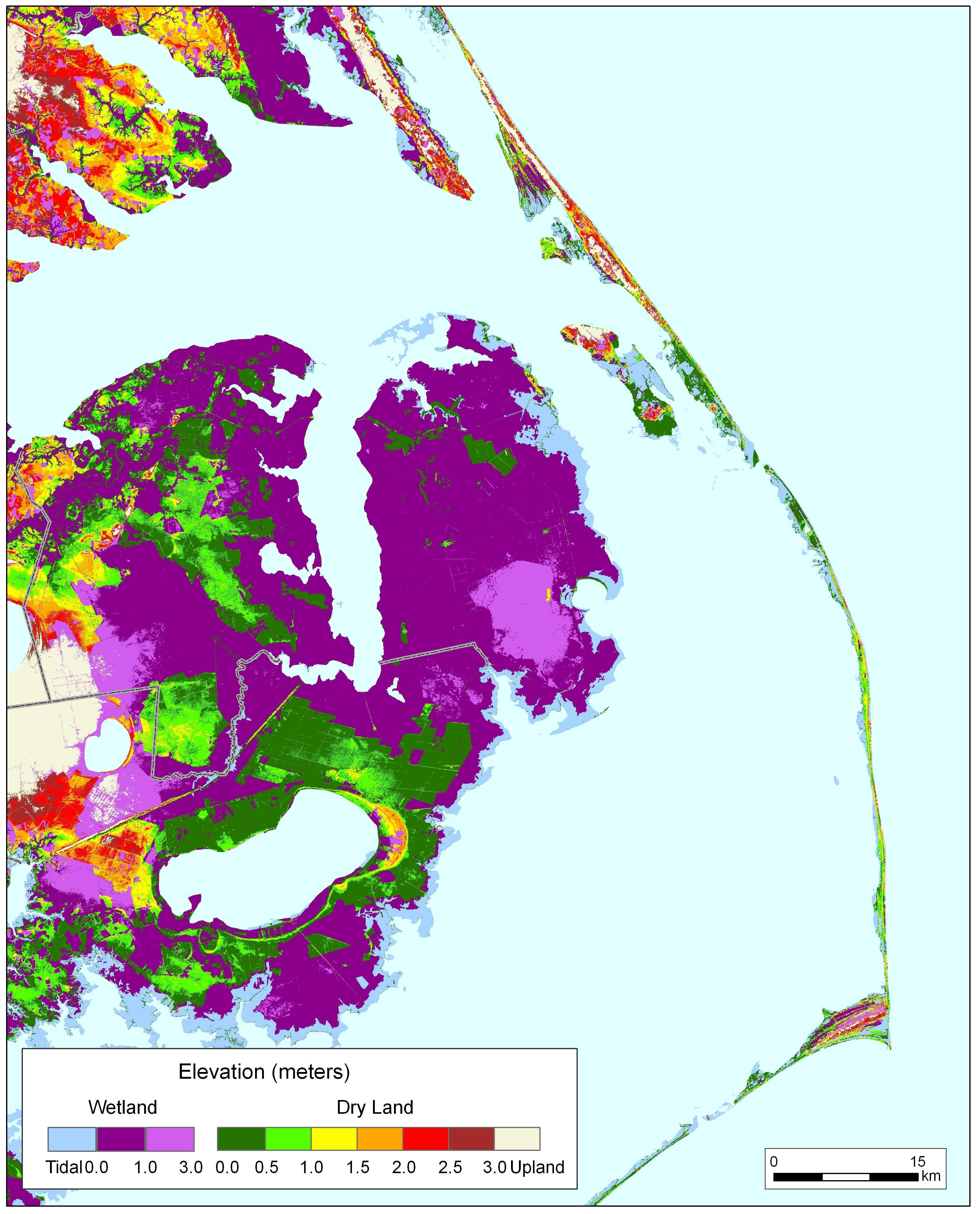 More Sea Level Rise Maps Of North Carolina - Map of eastern north carolina