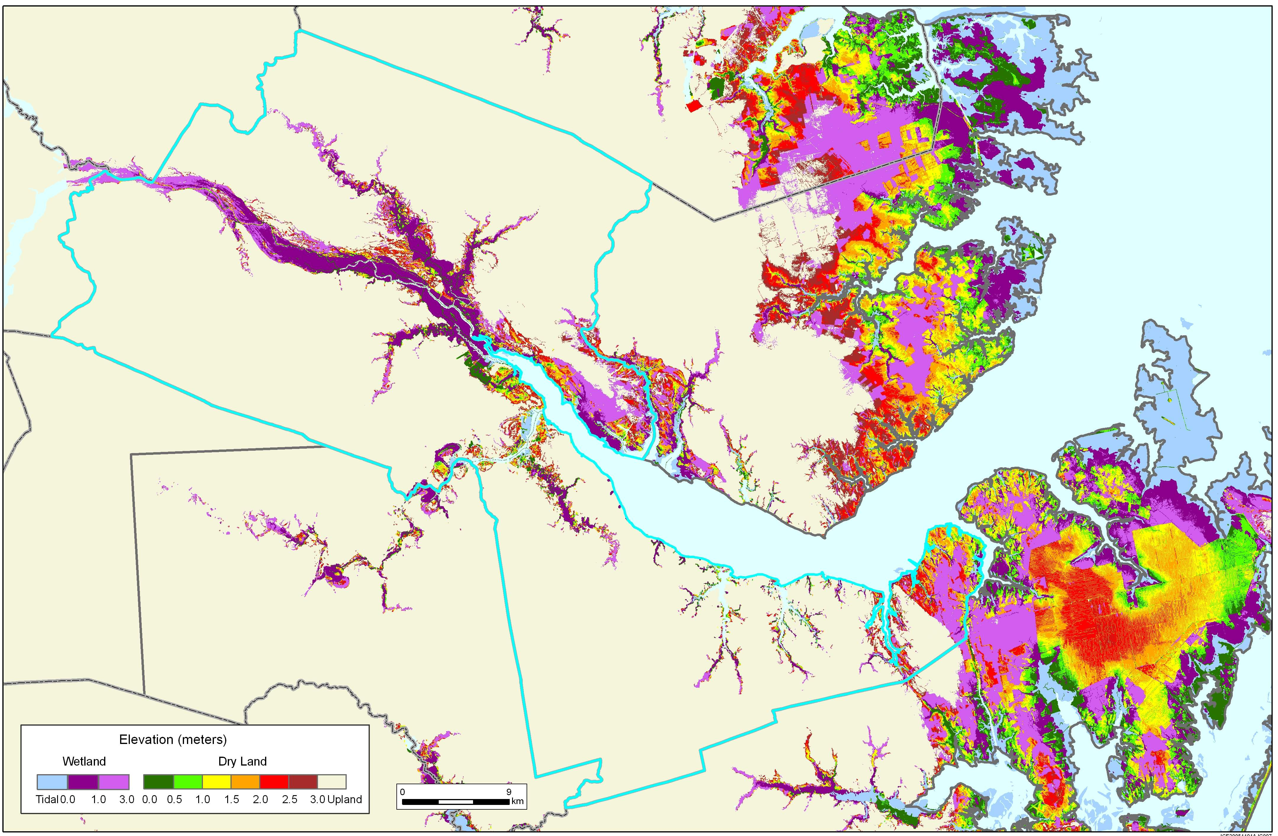 More sea level rise maps of north carolina craven county sciox Image collections