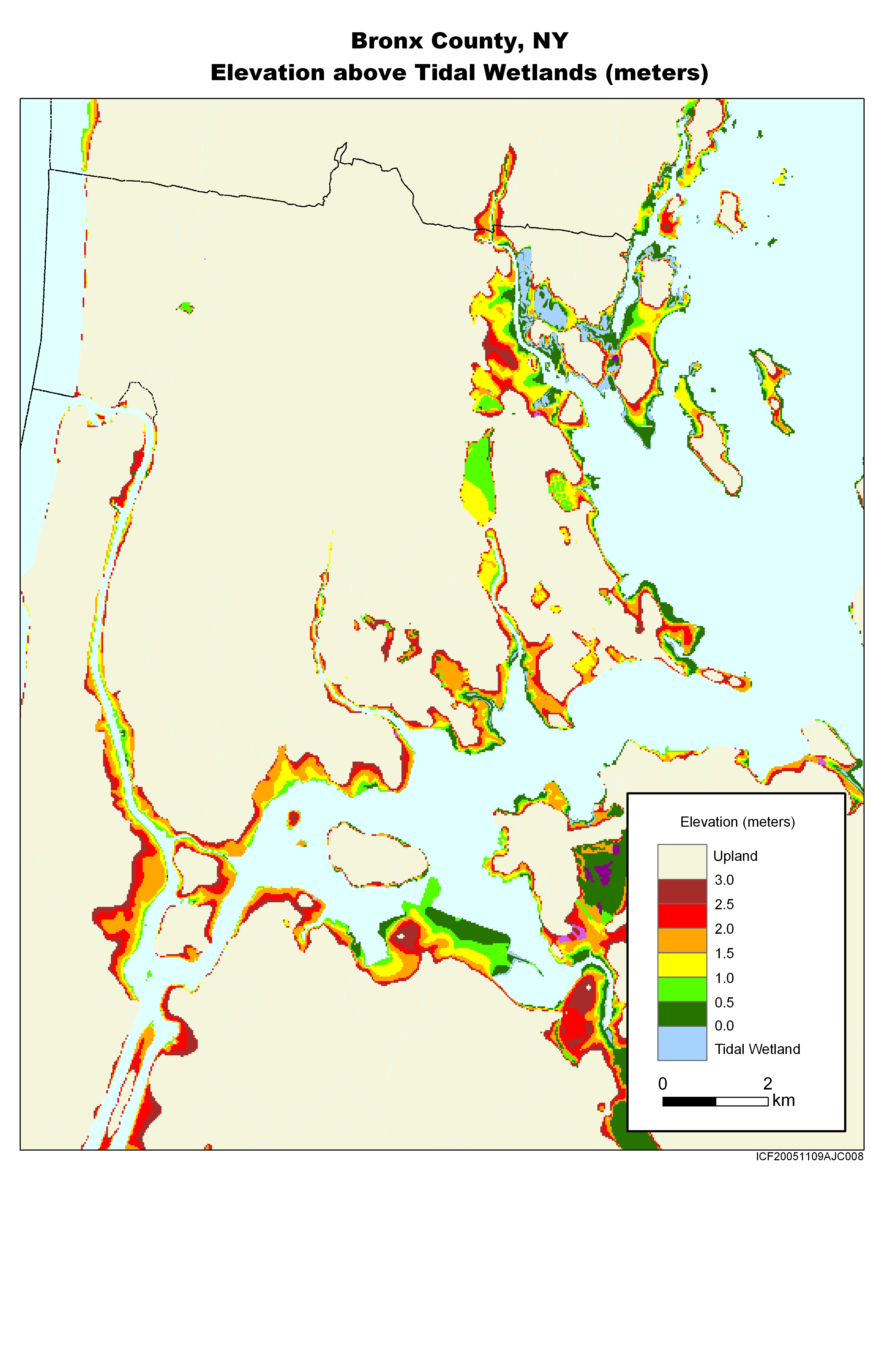 Nys Elevation Map.More Sea Level Rise Maps For New York State