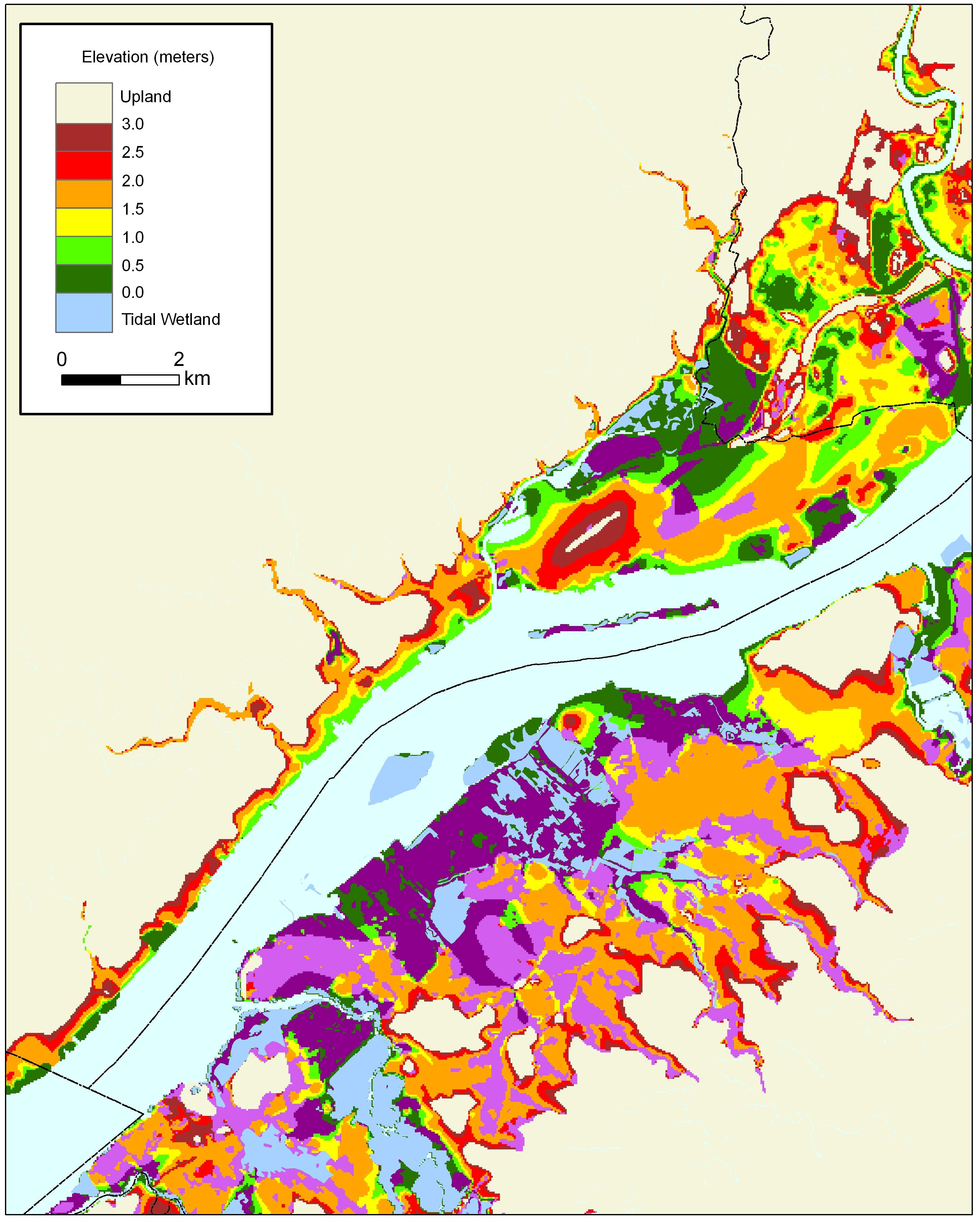 Sea Level Rise Planning Maps Likelihood Of Shore Protection In - County map of pa