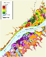 Delaware River:  Vulnerability to sea level rise