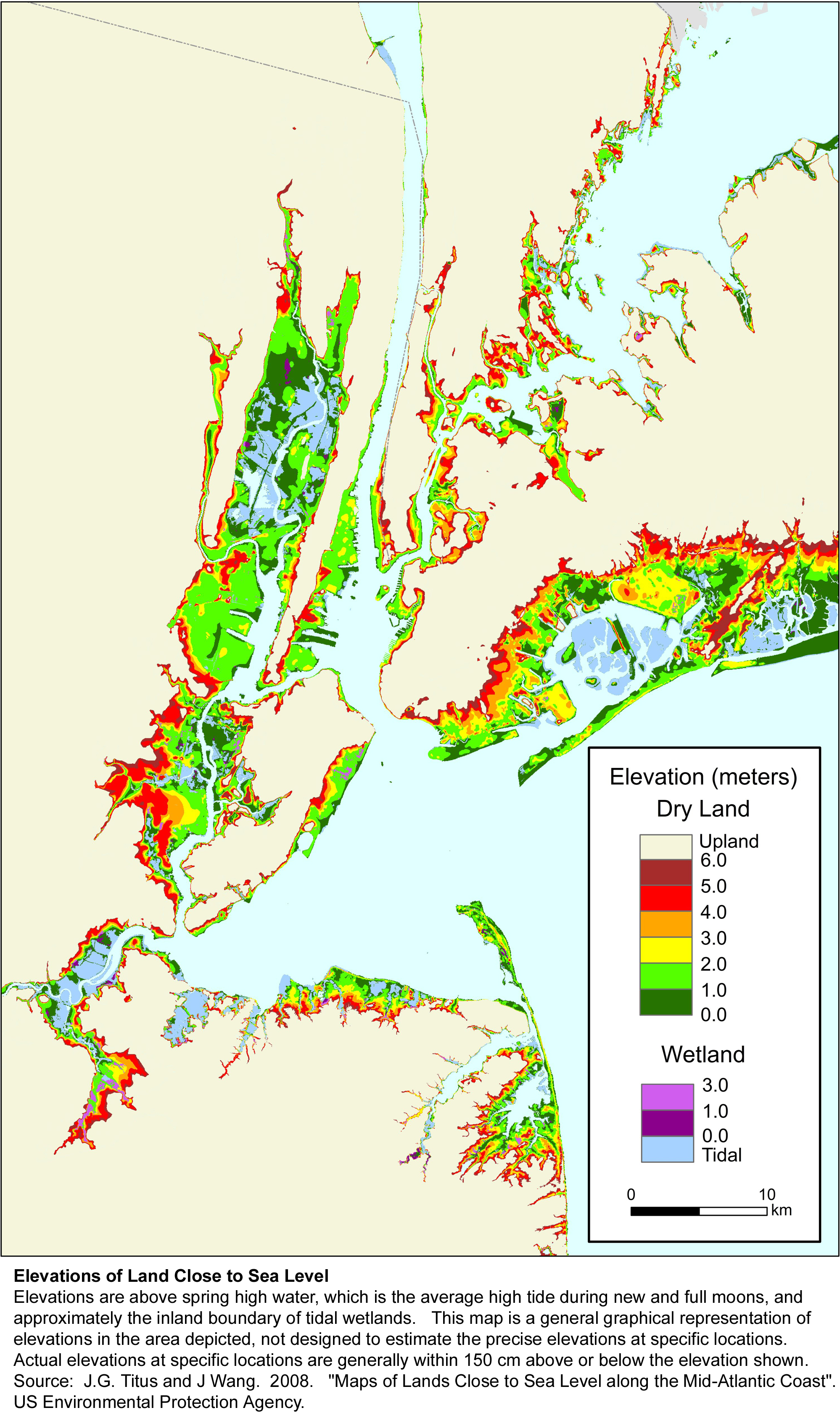 More Sea Level Rise Maps For New York State - Nyc map by area