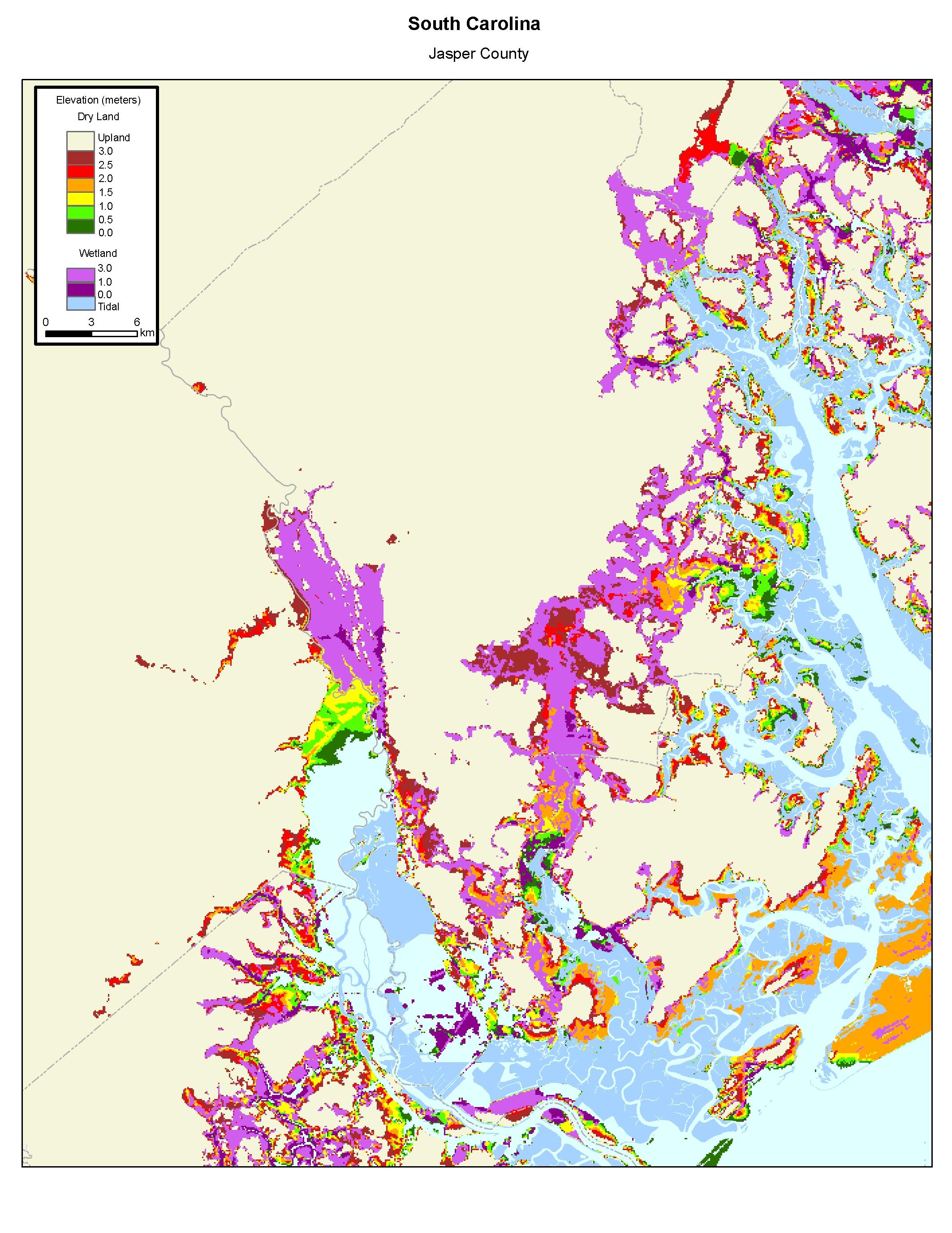 More Sea Level Rise Maps of South Carolina