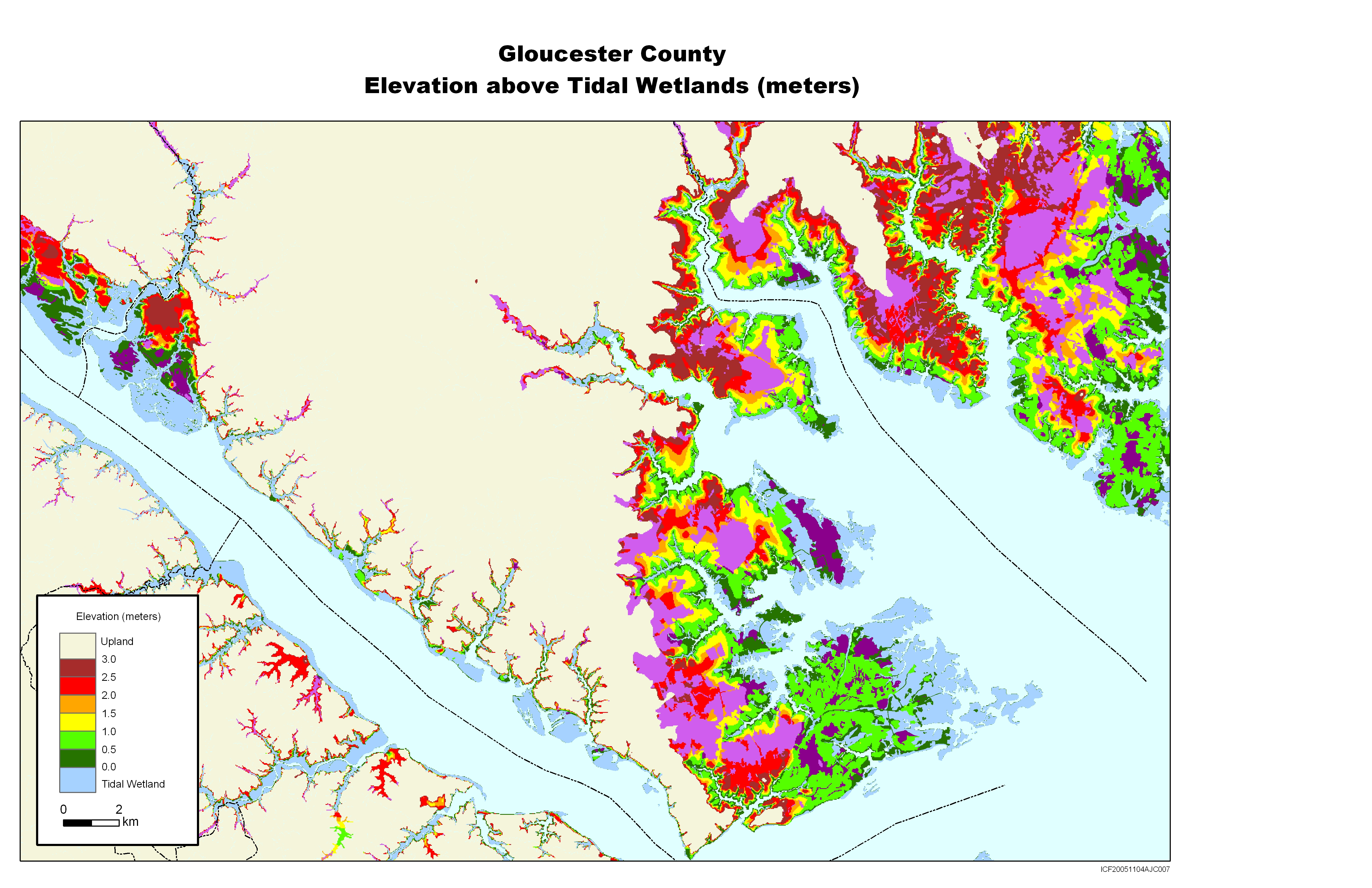 Gloucester Virginia Map.Sea Level Rise Planning Maps Likelihood Of Shore Protection In Virginia