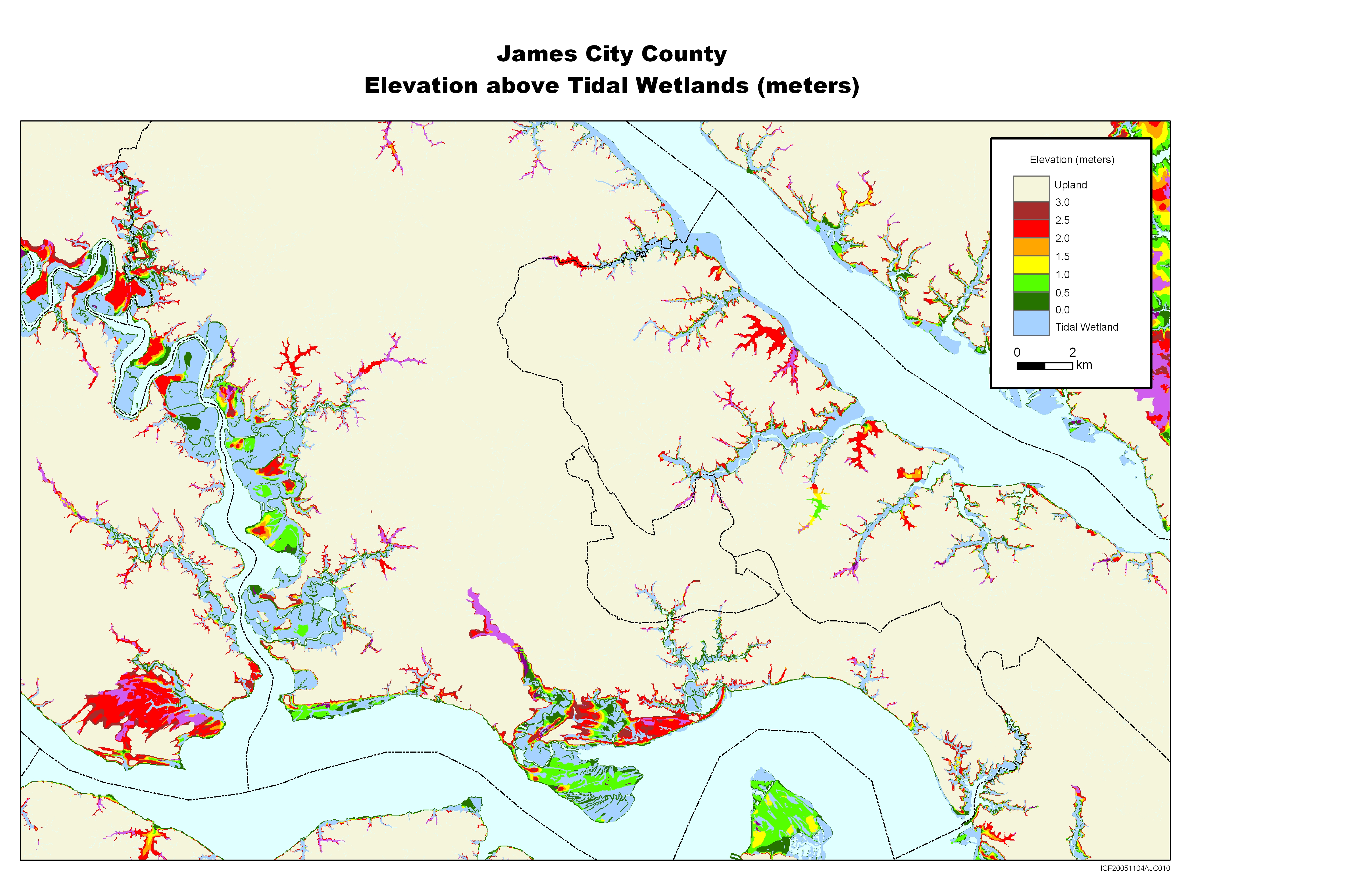 Gloucester Virginia Map.More Sea Level Rise Maps For Virginia