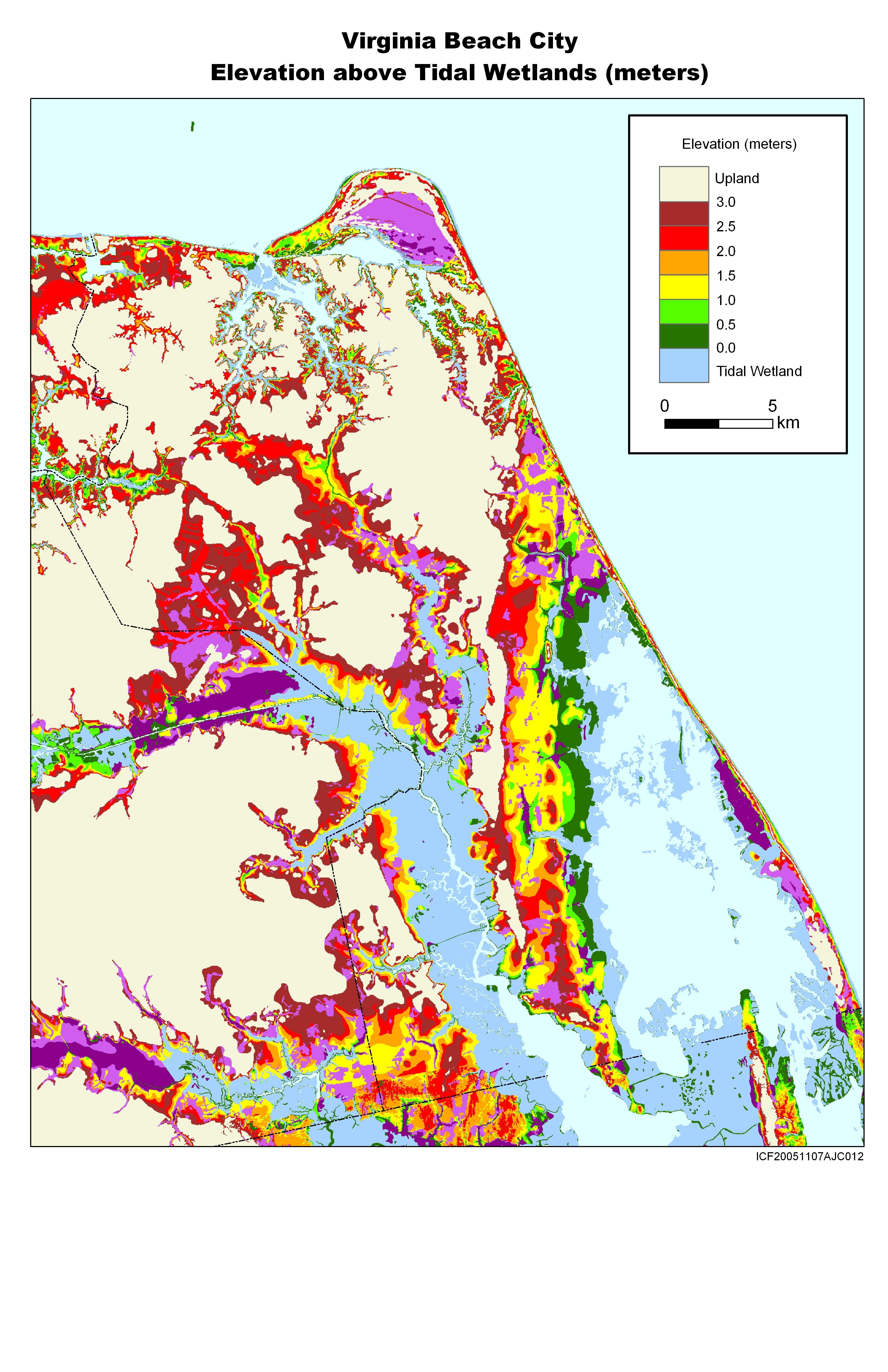 Sea Level Rise Maps for Virginia