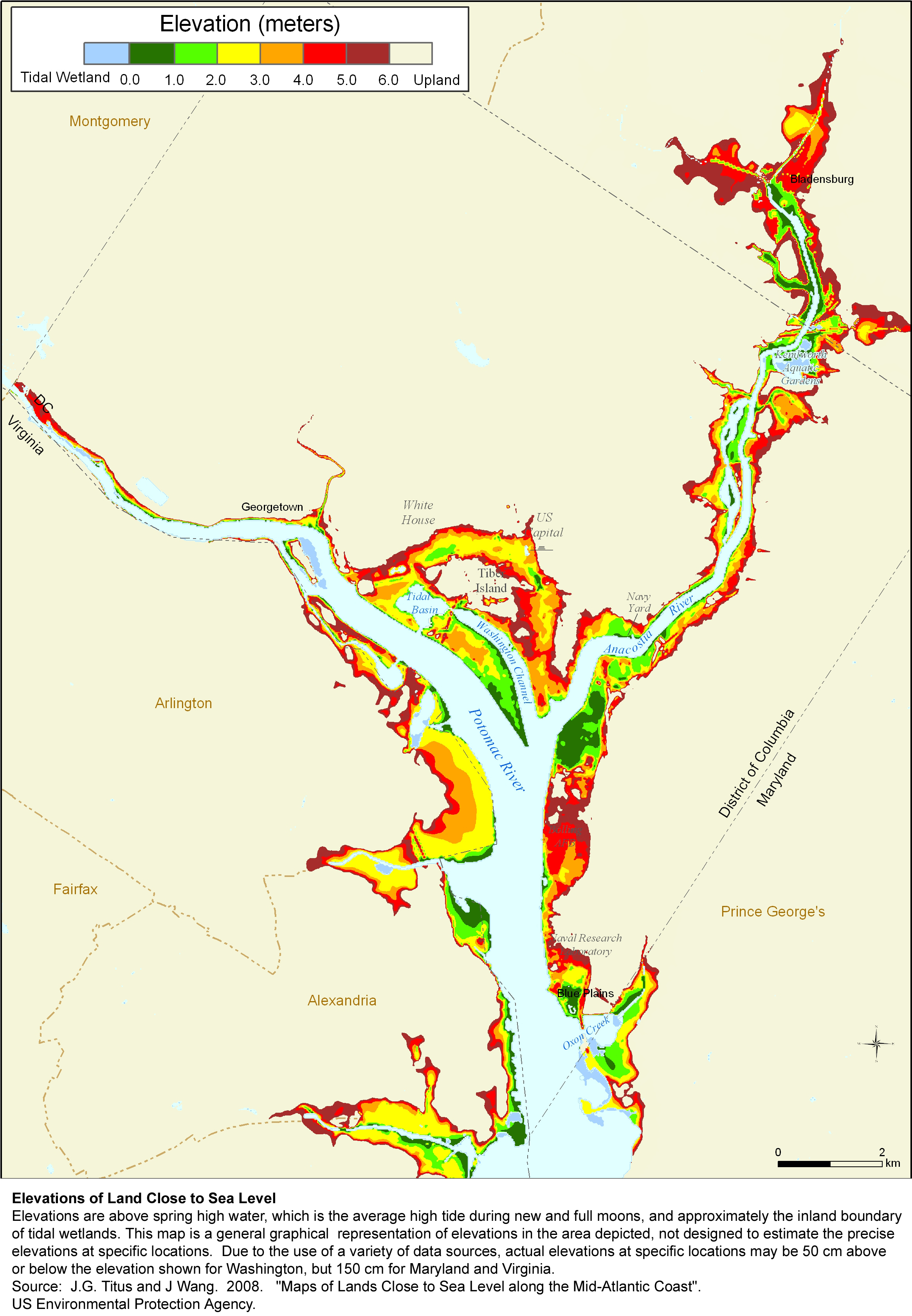 Elevation Plan Map : Sea level rise planning maps likelihood of shore protection