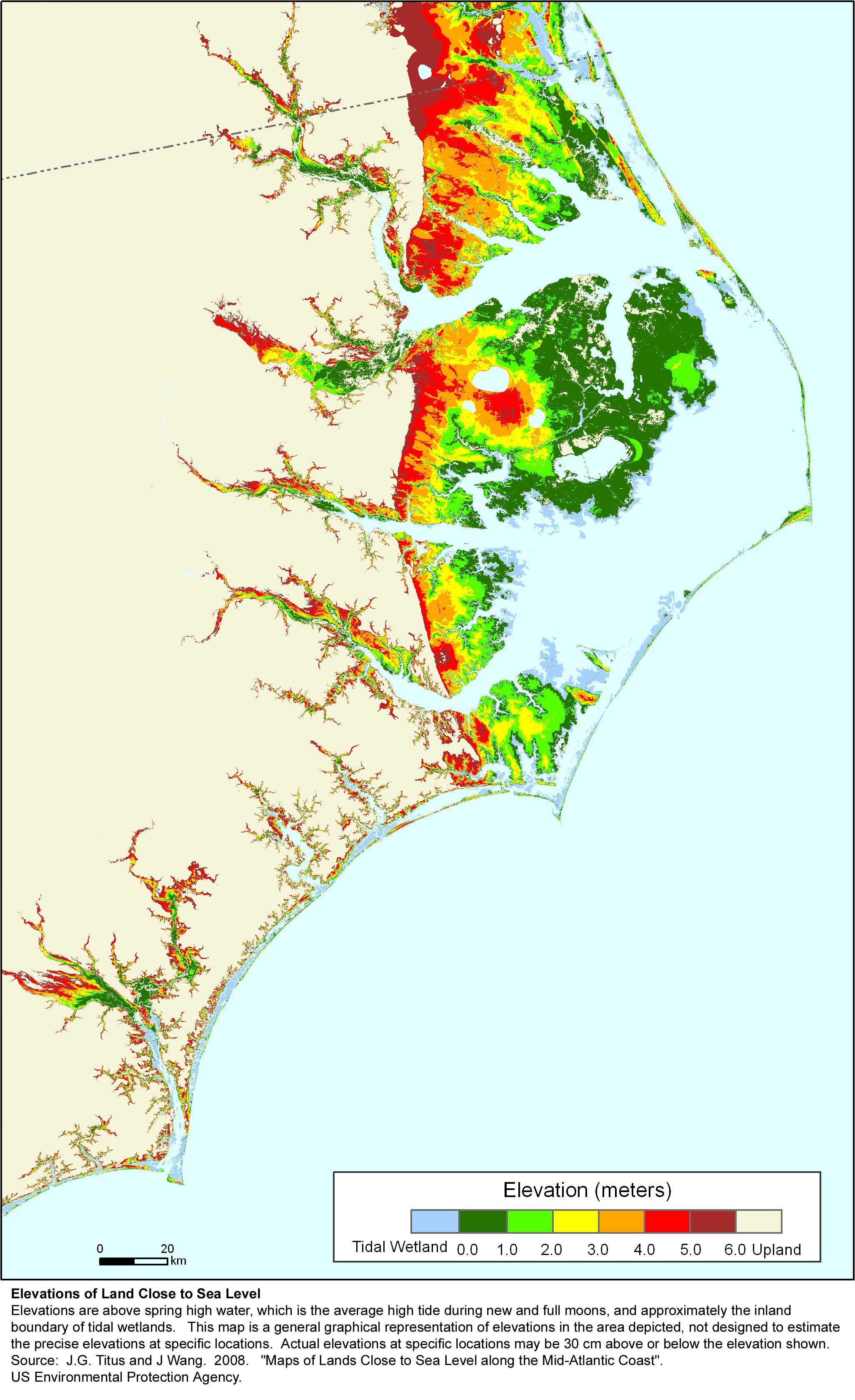 More Sea Level Rise Maps Of North Carolina - Map of north carolina coast