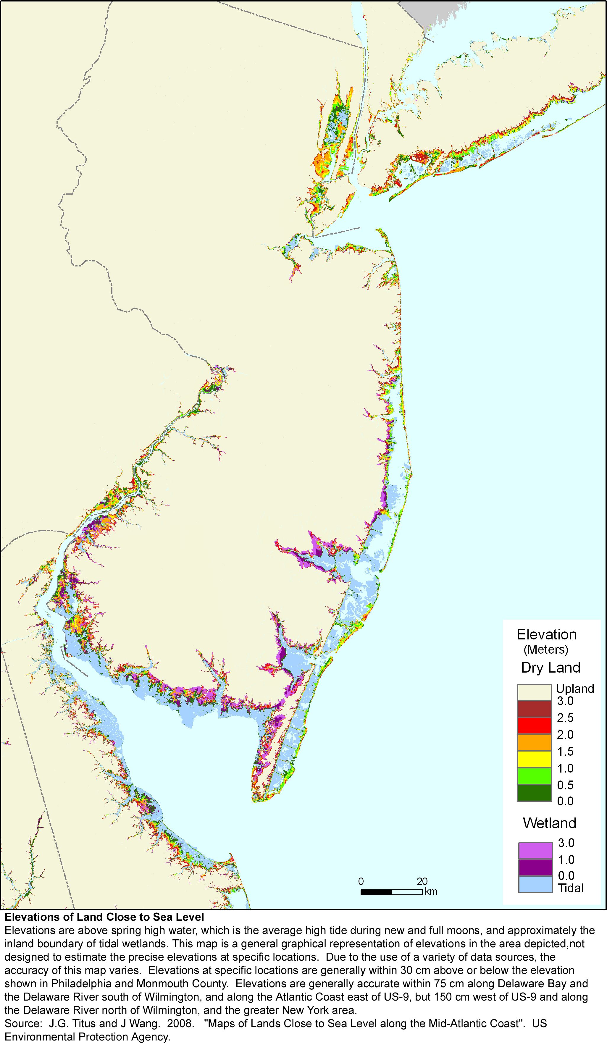 Nj Wetlands Map More Sea Level Rise Planning Maps: Likelihood of Shore Protection
