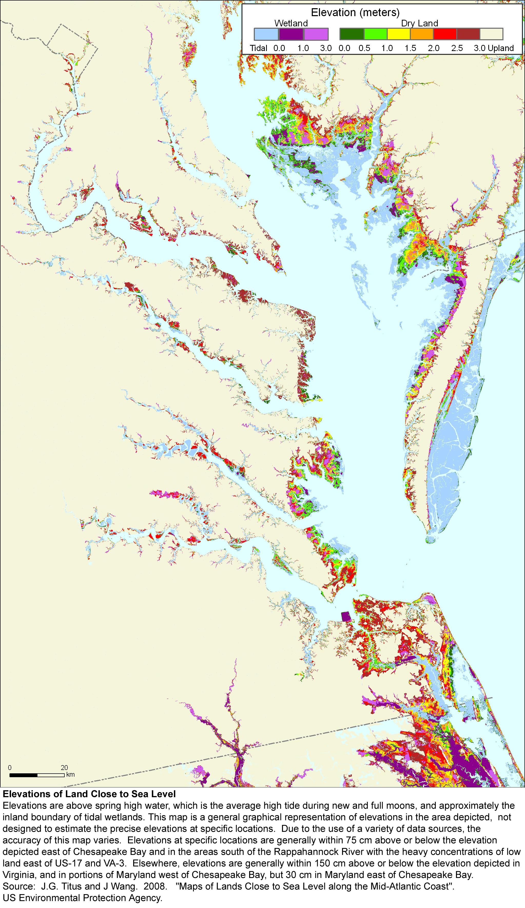 More Sea Level Rise Maps for Virginia