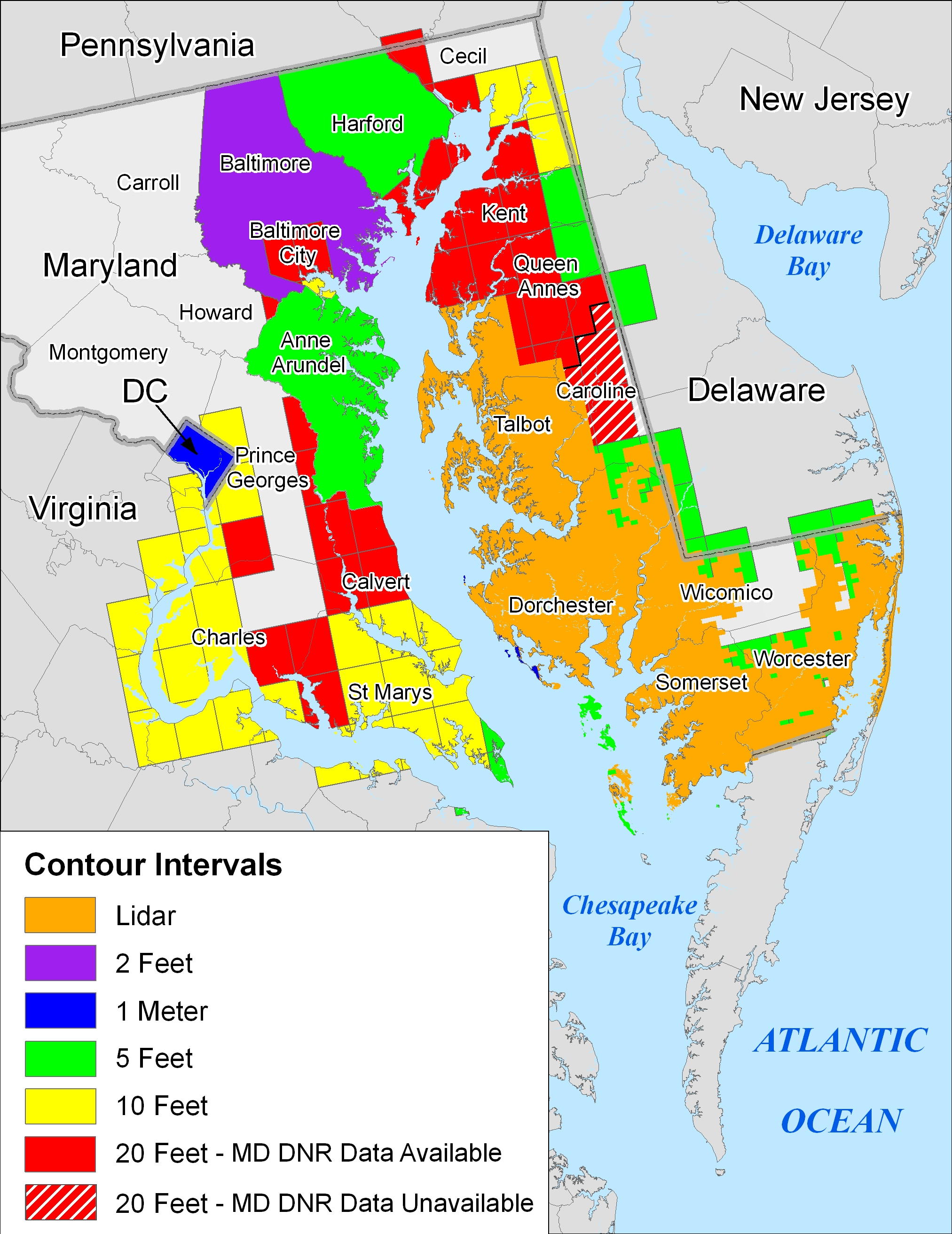 More Sea Level Rise Maps For Maryland - Maryland maps