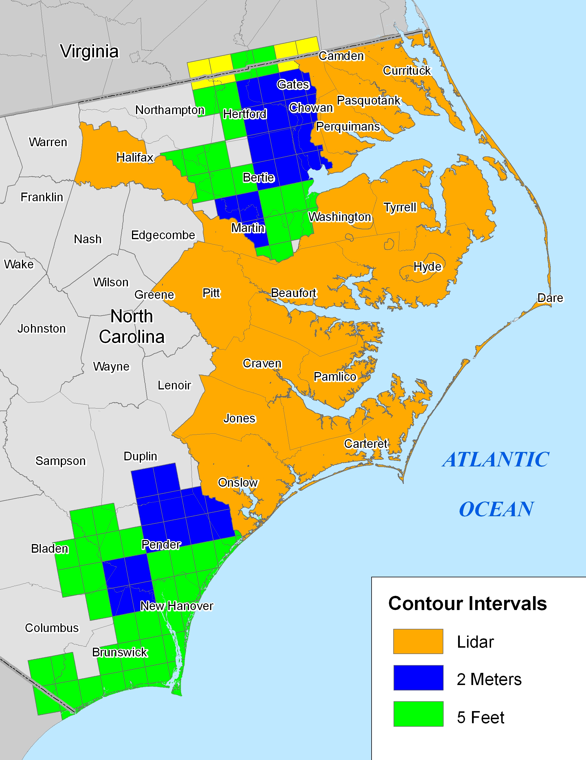More Sea Level Rise Maps Of North Carolina - Map of n carolina