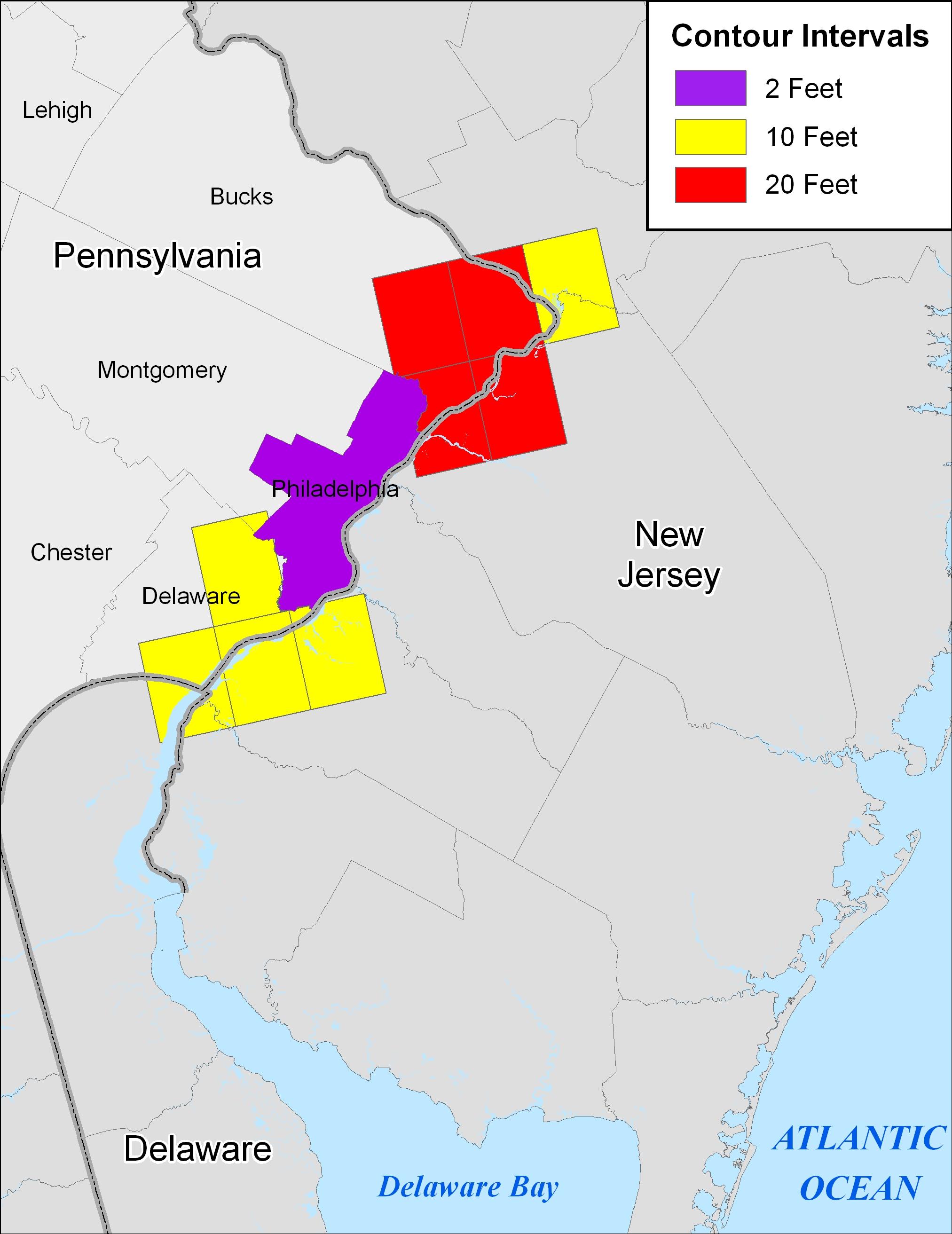 More Sea Level Rise Maps for Pennsylvania