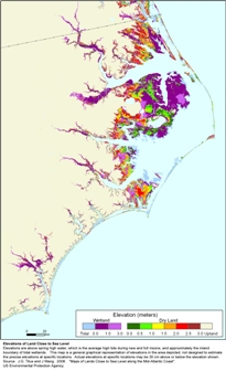 Pender County Nc Map.More Sea Level Rise Maps Of North Carolina